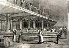 Women Working In A Textile Mill