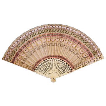 Wood & Silk Fan